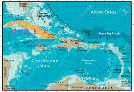Map Cuba Cuba Map And Caribbean Sea Royalty Free Cliparts Vectors And