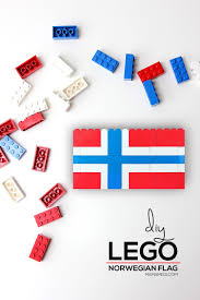 diy lego norwegian flag mama miss