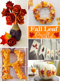 fall leaf crafts mine for the