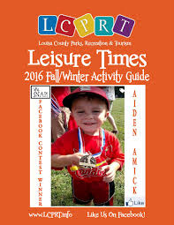 louisa county parks and recreation 2016 fall winter activity