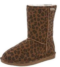 bearpaw womens boots size 9 bearpaw s suede boots in hickory leopard size 9