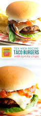 taco burgers recipe with tortilla chips sundaysupper