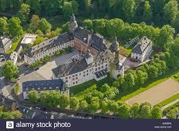Bad Berleburg Aerial View Schloss Wittgenstein Castle Wittgenstein Bad Stock