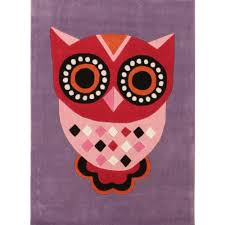 gorgeous purple owl kids floor rugs free shipping australia wide