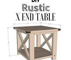 Rustic End Tables Diy Rustic X End Table