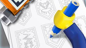 shields colouring page activities nexo knights lego com