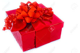 big present bow a present in a gift box is trimmed with a big bow and