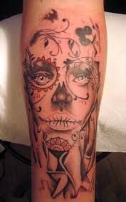 female day of the dead tattoos cool tattoos bonbaden