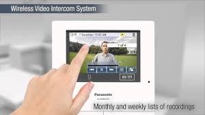 panasonic video intercom system vl swd501ex uex youtube