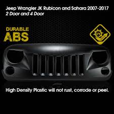 jeep grill icon eagle eye front hood grill grille grid fit jeep wrangler jk sport