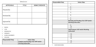 37 best free standard operating procedure sop templates u2013 free