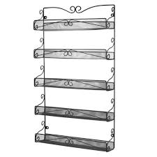 wall mounted spice rack cabinet 3s 5 tier wall mounted spice rack storage organizer ebay