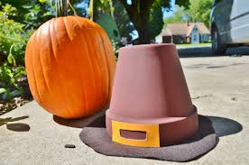 pilgrim s hat thanksgiving terra cotta pot decor