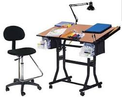 Drafting Craft Table Craft Drawing Hobby Drafting Table Desk Combo New Ebay
