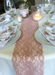 Gold Lace Table Runner Sale Weddings Lace Table Runner Dusty Rose 5 5in Wide Wedding
