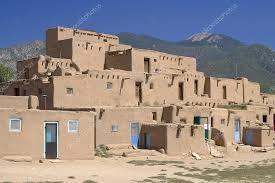 adobe houses adobe houses in the pueblo of taos new mexico usa stock photo