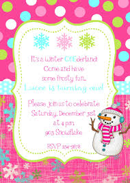 words for birthday invitation winter snowflake snowman birthday party invitation 9 50 via