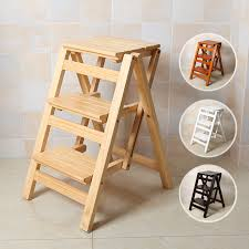 multi functional ladder stool chair bench seat wood step stool