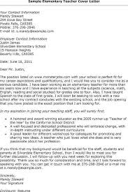 experienced teacher cover letter teacher cover letter sample