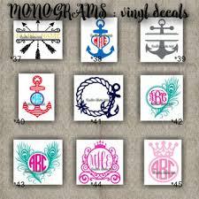 monogram stickers shop vinyl monogram stickers on wanelo
