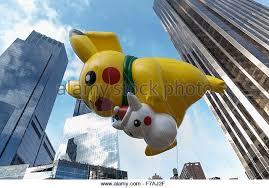 Thanksgiving November 26 Pikachu Balloon Macys Thanksgiving Parade Stock Photos U0026 Pikachu