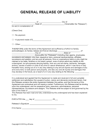 General Power Of Attorney Washington State by Release Of Liability Forms U0027hold Harmless Agreements U0027 Eforms