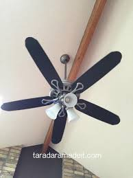 how to paint a ceiling fan paint your ceiling fan without removing it from the ceiling hometalk