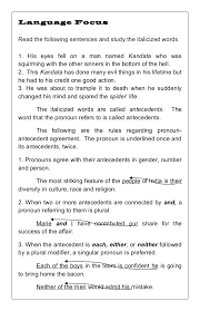 worksheet 9101199 pronoun antecedent agreement worksheets u2013 word