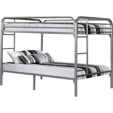 Full Over Full Futon Bunk Bed silver bunk u0026 loft beds you u0027ll love wayfair