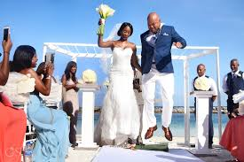 jumping the broom wedding rock riviera wedding