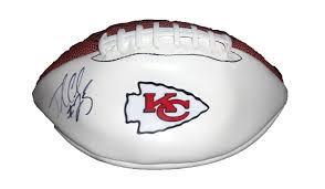 jamaal charles autographed kansas city chiefs logo football w