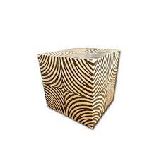 Zebra Side Table Bone Side Table Zebra Cube Design At Rs 14000 Piece S Kinare