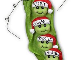 peas in a pod ornament pea pod ornament etsy