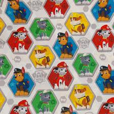 paw patrol fabric remnant craft fabric dog fabric cartoon fabric
