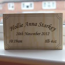 Baby Plaques Wooden Personalised Plaques And Signs