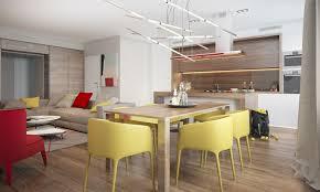 cuisine salle a manger ouverte association de couleur peinture cuisine ouverte sur salon et salle