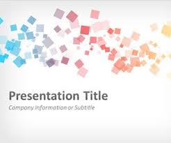 templates powerpoint abstract free abstract squares powerpoint template