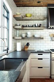 kitchen corner shelves ideas creative shelving ideas diy kitchen transitional with wood shelves