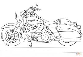 harley davidson road king coloring page free printable coloring