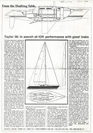 The Drafting Table by Taylor 38 By Jim Taylor Yacht Designs