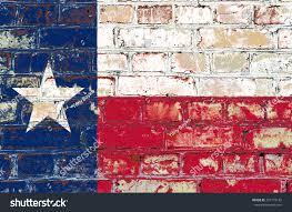 State Flag Of Texas Texas State Flag America On Brick Stock Illustration 297175142