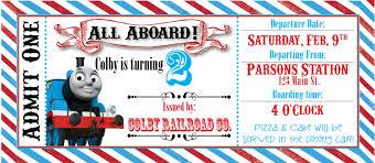 birthday invites interesting thomas the train birthday