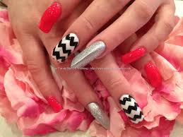 pink white and silver nail design bow ideas baby pink and silver