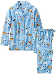 its a dogs pjs womens flannel pajamas