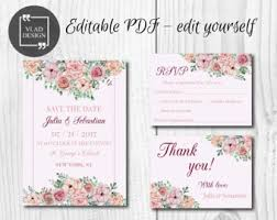 Shabby Chic Website Templates by Pdf Save The Date Etsy