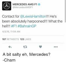 contact number for mercedes mercedes amg f1 contact for he s been absolutely harpooned what