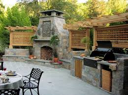 Outdoor Patio Fireplaces Outdoor Kitchen Designs Featuring Pizza Ovens Fireplaces And