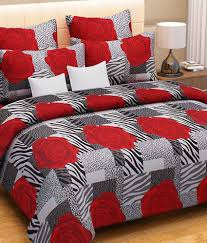 Buy Double Bed Sheets Online India Home Candy Red Floral Cotton Double Bed Sheets With 2 Pillows