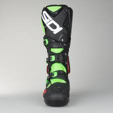 motocross boots sidi sidi crossfire 2 srs motocross boots green fluorescent black now