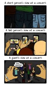 Meme Google Plus - concert views for short tall giant people source the funny